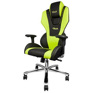 Chaise Mazer verte et noire pour gamer