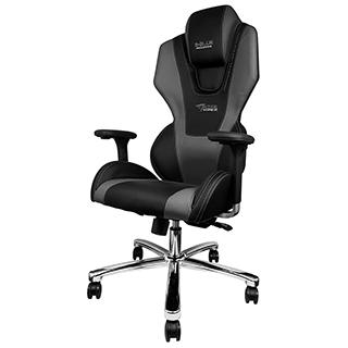 Chaise Mazer noire et grise foncée pour gamer