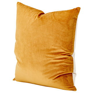 Coussin Ocre velours
