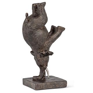 Sculpture Éléphant en équilibre en résine