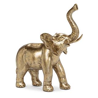 Sculpture L'éléphant avec trompe en l'air