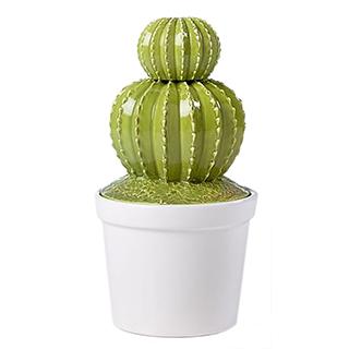 Boîte décorative an céramique en forme de cactus