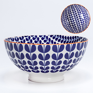 Bol porcelaine motif vigne