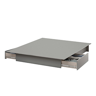 Lit plateforme 54-60 po style moderne