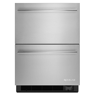 Tiroir double réfrigérateur/congélateur 24po