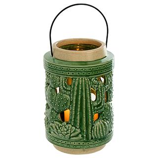 Lanterne en céramique verte