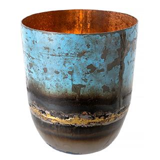 Vase décoratif en fer recyclé