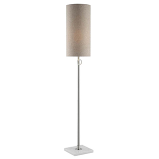 Lampe de plancher Arte chrome sur base de marbre