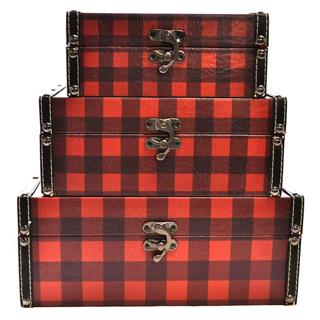 3 boîtes carreautées Lumberjack