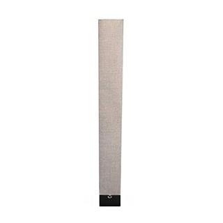 Lampe de plancher contemporaine en tissu