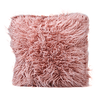 Coussin rose mouton