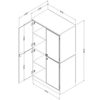 Armoire de rangement 4 portes