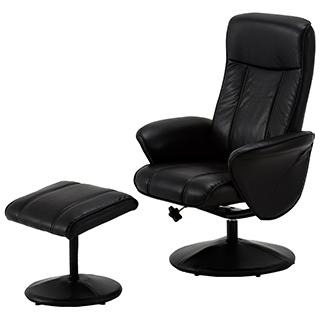 Chaise pivotante et tabouret