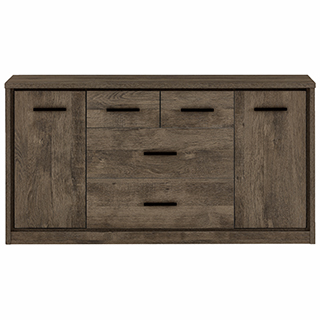 Bureau 3 tiroirs, 2 portes