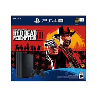 Console PS4 Pro 4K avec jeu Red Dead Redemption II