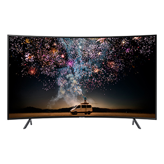 Téléviseur DEL courbé Smart TV écran 55 po