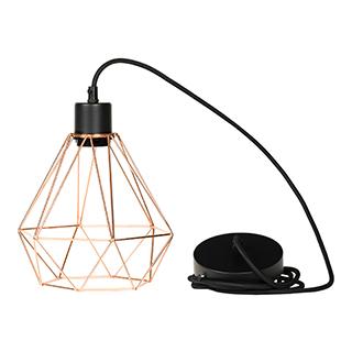Lampe suspendue avec abat-jour géométrique