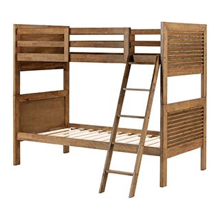Lits superposés en bois solide