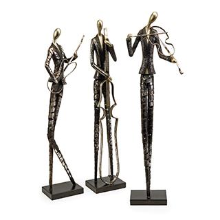 Musiciens décoratifs (ens.3)