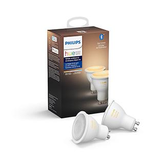 Ens. 2 ampoules GU10 Hue Philips
