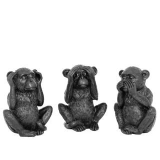 Ensemble de 3 singes décoratifs