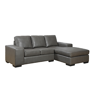 Sofa chaise longue en similicuir