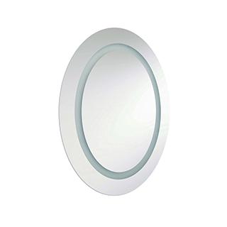 Miroir ovale lumineux à l'intérieur