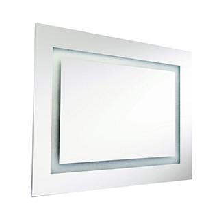 Miroir rectangulaire lumineux à intérieur