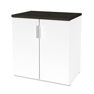 Cabinet de rangement  - Blanc & gris
