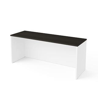 Bureau étroit sans caisson - Blanc & Gris