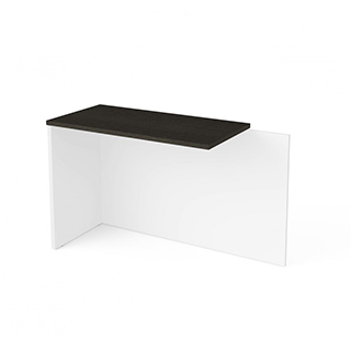 Table retour - Blanc & gris profond