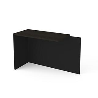 Table retour - Gris profond & noir