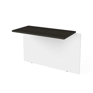 Pont pour bureau - Blanc & gris
