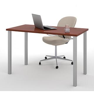Table de bureau 24po X 48po avec pattes de métal