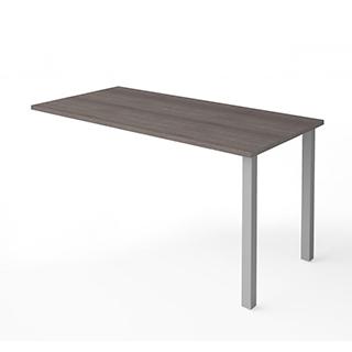 Table retour avec pattes de métal - Gris Écorce