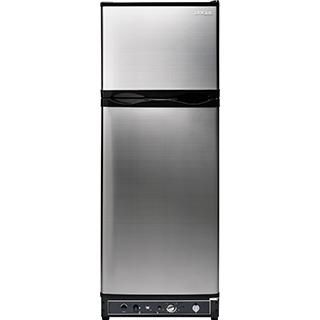 Réfrigérateur 8 pi.cu. au gaz propane et 110V/12V pour ch