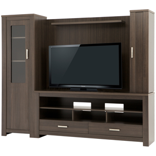 meuble tv et rangement audio organiser le salon tanguay. Black Bedroom Furniture Sets. Home Design Ideas