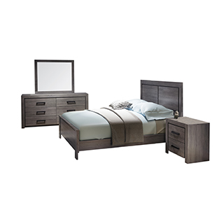 Mobilier de chambre à coucher Queen 60 po au design contemporain