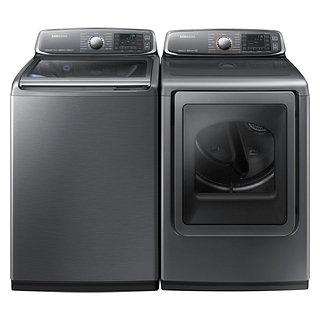 Ensemble laveuse sécheuse à la vapeur