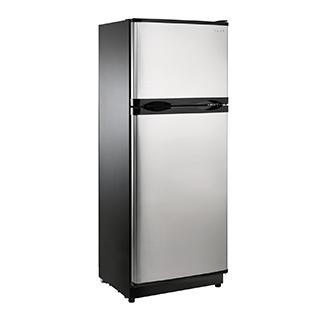 Réfrigérateur 10,3 à congélateur en haut 12V/24V panneau solaire en option