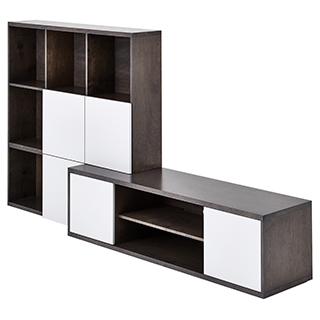 meuble tv et rangement audio organiser le salon tanguay. Black Bedroom Furniture Sets. Home Design Ideas