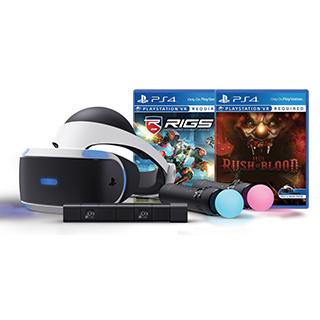 PlayStation VR - lunette virtuelle, caméra, manettes, 2 jeux