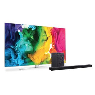 Téléviseur DEL 4K 3D Smart TV 60po avec barre de son 320W