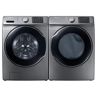 Duo laveuse et sécheuse à chargement frontal à vapeur