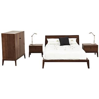 Mobilier de chambre à coucher Queen grand 2 places