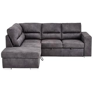 Sectionnel sofa-lit avec tabouret de rangement