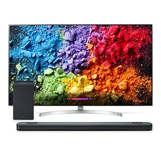 Ensemble télé et barre de son