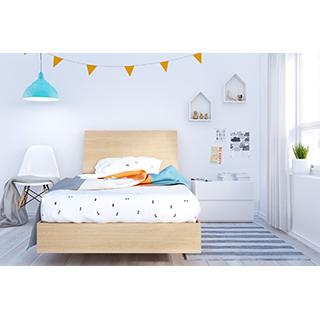 Chambre à coucher simple 3 pièces fiji