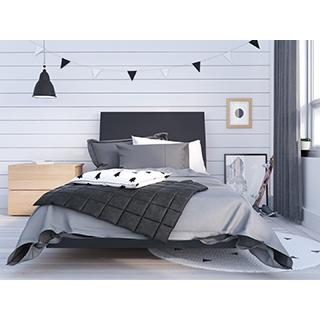 Chambre à coucher simple 3 pièces karla