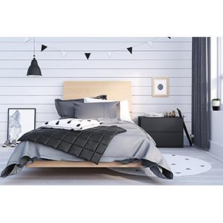 Chambre à coucher simple 3 pièces muse